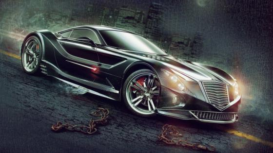 Concept car illustration wallpaper