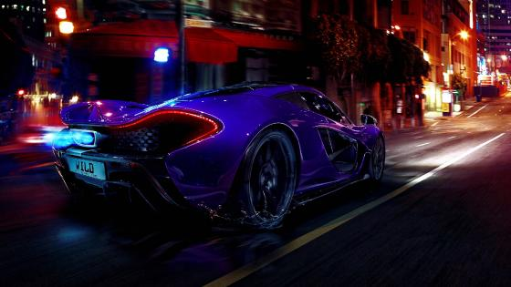 McLaren P1 at night wallpaper
