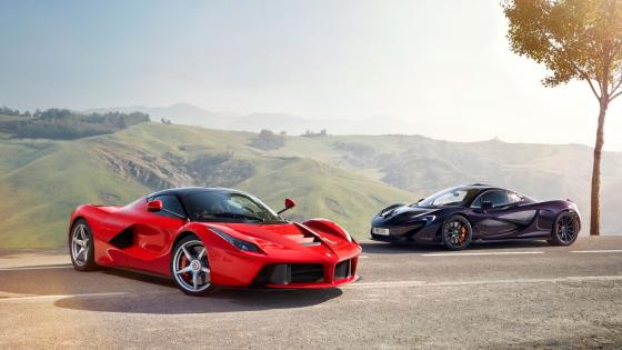 Ferrari La Ferrari and MacLaren P1 wallpaper