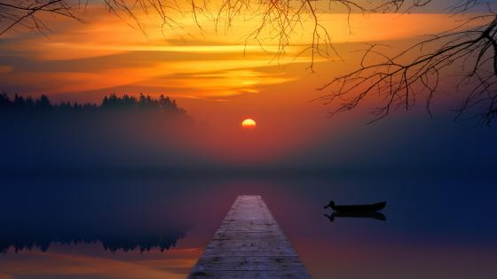 Incredibly beautiful sundown wallpaper