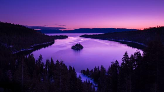 Fannette Island on Lake Tahoe wallpaper