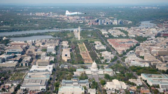 T-38 Aircraft Flying Over Washington, DC wallpaper