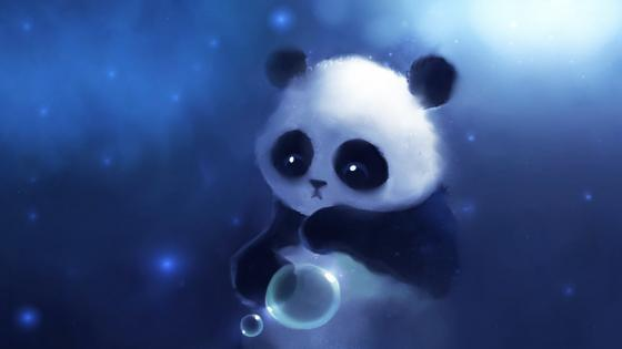 Anime panda wallpaper