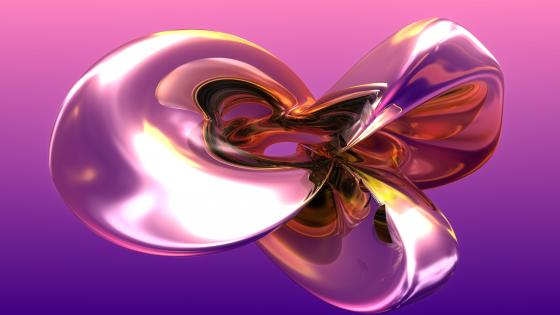 3D abstract computer graphics wallpaper