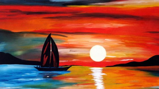 Sunset Painting wallpaper