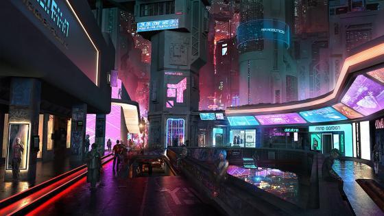 Science fiction city wallpaper