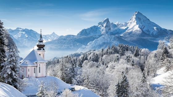 Pilgrimage Church Maria Gern wallpaper