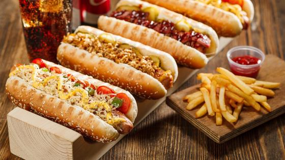 Hot Dog and French fries wallpaper
