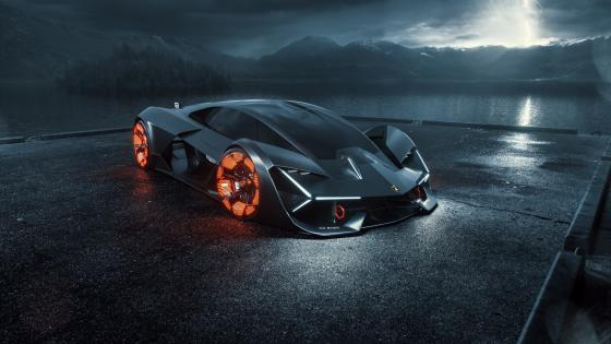 Black Lamborghini Terzo Millennio wallpaper
