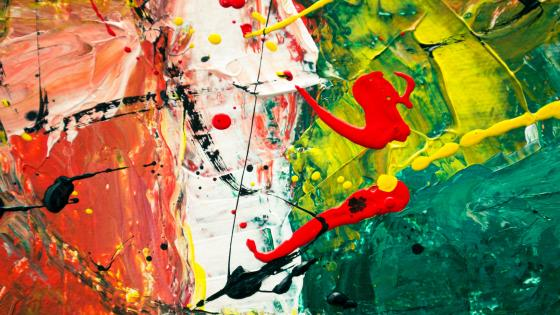 Splash abstract painting art wallpaper