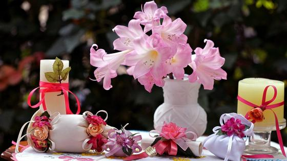 Flowers Candles and Spices Fragrant wallpaper