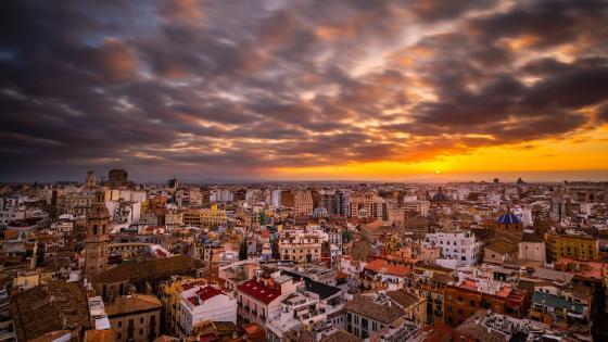 Valencia skyline wallpaper