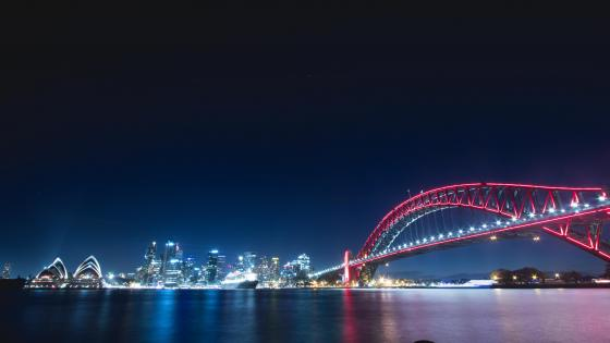 Harbour Bridge at night wallpaper