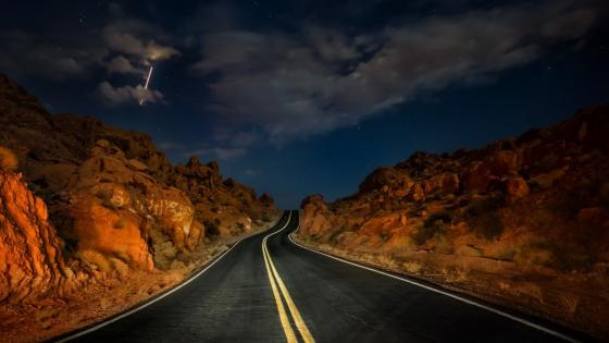 Desert road wallpaper