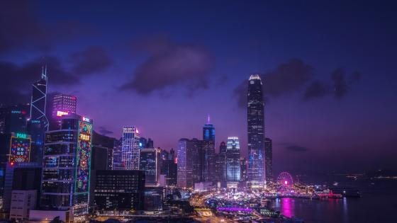 Hong Kong Night Light wallpaper