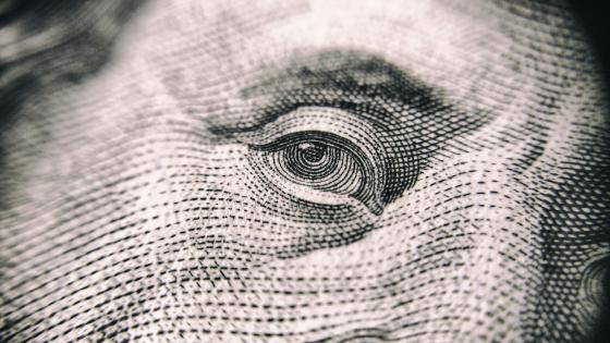 Eye of the money wallpaper
