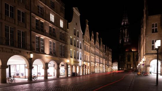 Muenster by night wallpaper