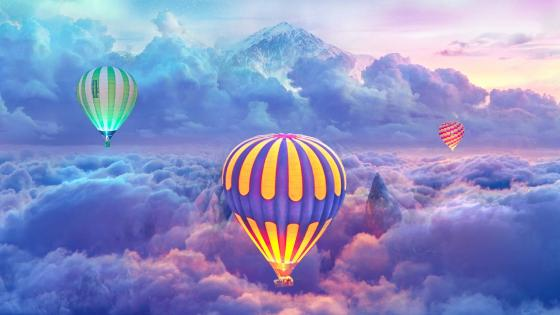 Hot air balloons wallpaper