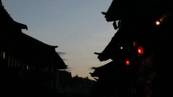 Lijiang silhouette wallpaper