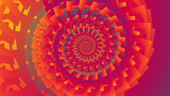 Orange spiral fractal wallpaper