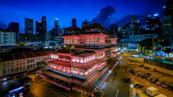 Buddha Tooth Relic Temple, Singapore wallpaper