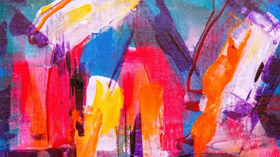 Expressionist abstract painting wallpaper