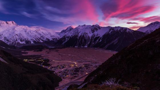 Aoraki Mount Cook Village wallpaper