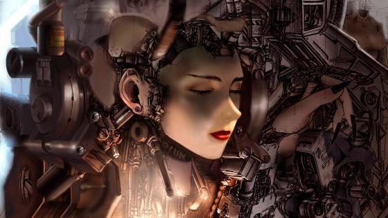 Mechanical Woman wallpaper