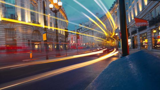 London's Light trails wallpaper