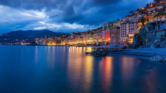 Camogli at dusk wallpaper