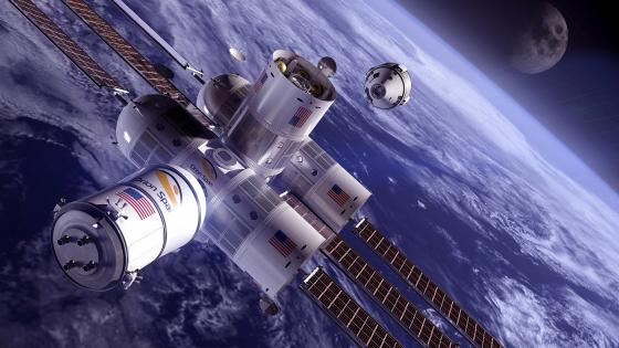 Orion Span Aurora Space Station wallpaper