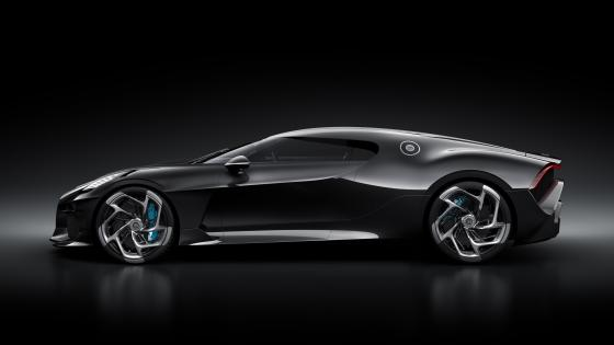 Black Bugatti La Voiture Noire sideview wallpaper
