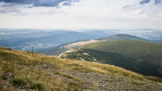 Panorama from Snezka Mountain (Czechia) wallpaper