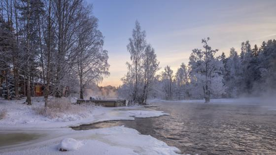Kymi river (Finland) wallpaper
