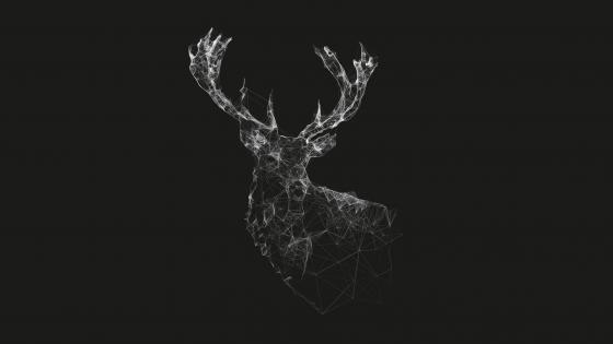 Geometric deer wallpaper