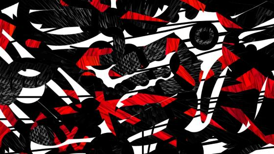 Black red white abstract art wallpaper