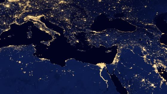 Night Lights of the Mediterranean Sea v2012 wallpaper