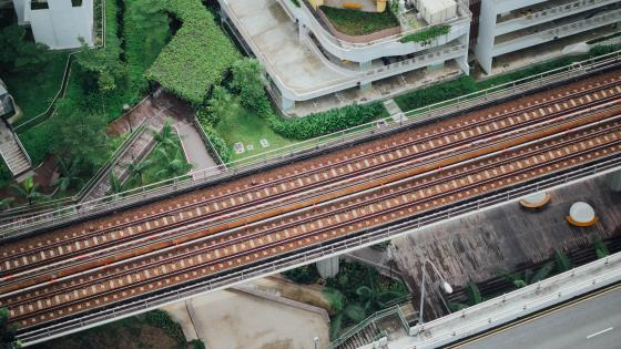 Train Tracks in Singapore wallpaper