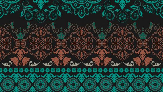 Indian style pattern wallpaper