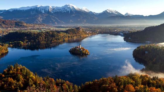 Lake Bled from Ojstrica viewpoint wallpaper