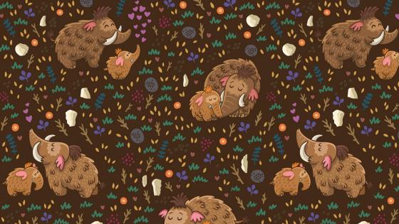 Mammoth pattern wallpaper