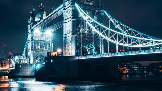 Tower Bridge at night wallpaper