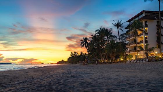 Pattaya beach at sunset wallpaper