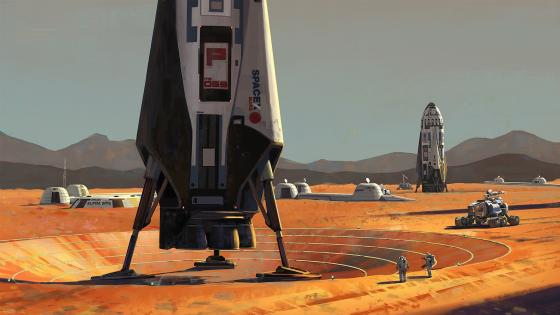 SpaceX Mars colony wallpaper