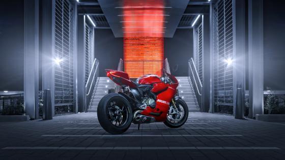 Red Ducati 1199 wallpaper
