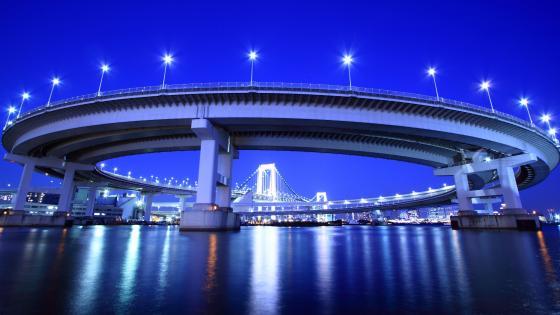 Rainbow Bridge in Tokyo wallpaper