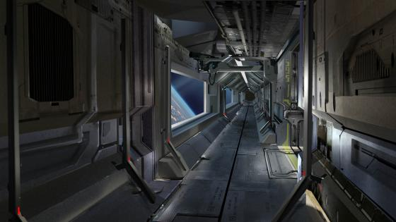Sci-Fi Spaceship Interior Concept Art wallpaper