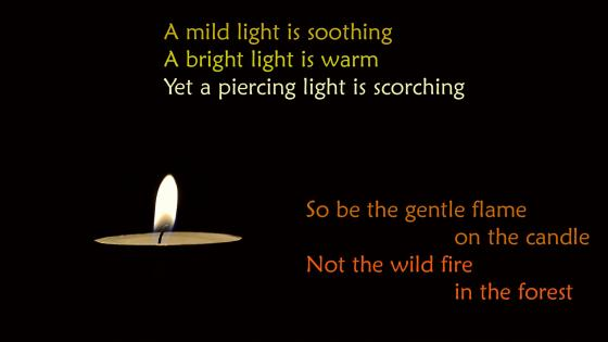 Candle with quote wallpaper