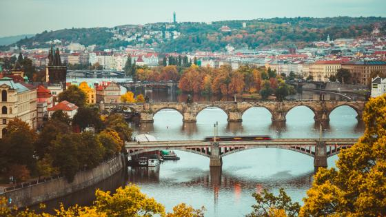 Vltava river in Prague wallpaper