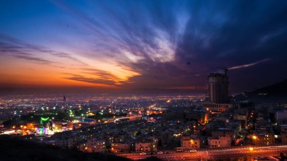 Tehran evening wallpaper